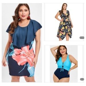 Dresses & Skirts - NWT 2 plus size dresses & 1 swimsuit